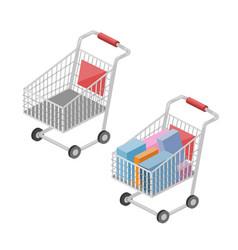 shopping cart isometric vector image