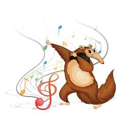 The dancing four-legged animal vector image