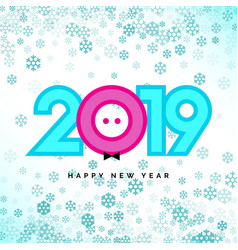 2019 happy new year numbers for calendar design vector image