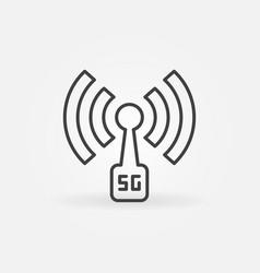 5g antenna concept outline icon vector