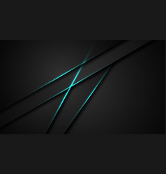 Abstract black blue frame sport design concept vector