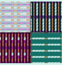 Abstract colorful seamless pattern set vector