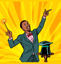 african magician amazing performance circus vector image
