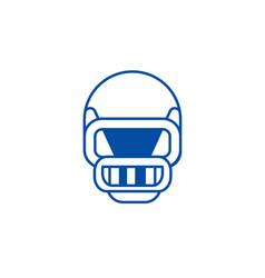 american football helmet line icon concept vector image