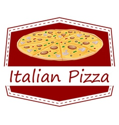 An Italian pizza label vector image