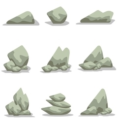art of stone style collection vector image