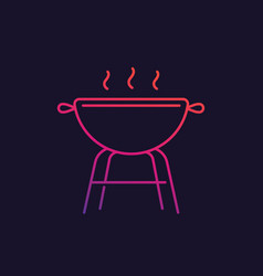 barbecue grill line icon vector image