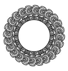 Beautiful Decorative Round Frame vector