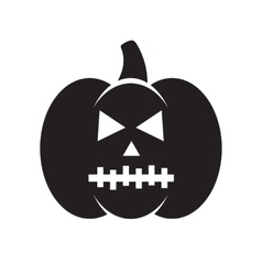 Black Halloween pumpkin vector