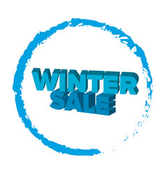 Bright blue 3d words winter sale vector