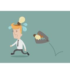 Business man lose idea vector image