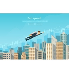 Businessman flying vector image