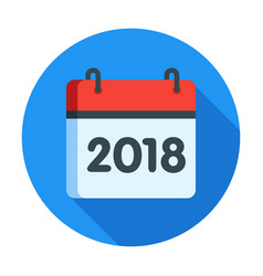 Calendar for 2018 year icon vector