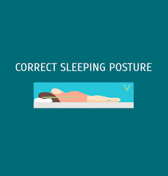 cartoon correct sleeping body posture set vector image