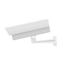 Cctv security camera side view white vector