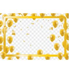 Celebration party gold balloons confetti vector
