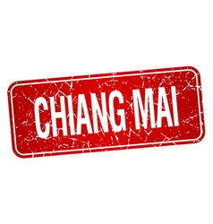 Chiang mai red stamp isolated on white background vector