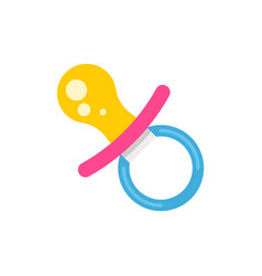 child pacifier - baby child vector image
