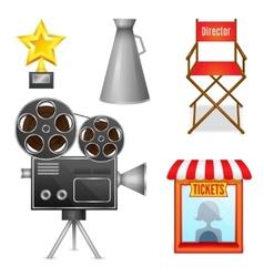 Cinema entertainment decorative icons vector image