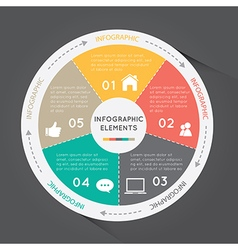 Circular Chart Infographic Elements circle chart vector image