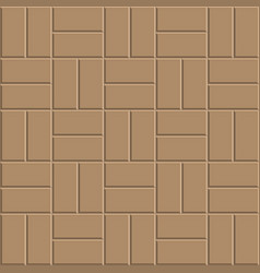Clay brick floor pattern vector