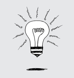 Concept idea inspired bulb shape vector