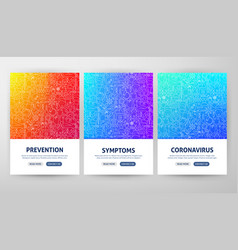 coronavirus flyer concepts vector image