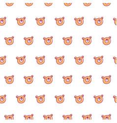 cute bear pattern vector image
