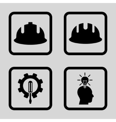 Development Flat Squared Icon vector
