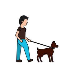 dog pet icon image vector image