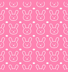 doodle rabbit pattern vector image
