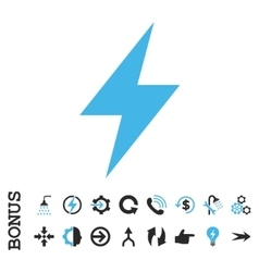 Electric Strike Flat Icon With Bonus vector image