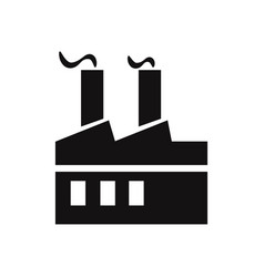 factory icon vector image