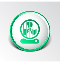 Fan icon wind isolated cooling cold electric vector