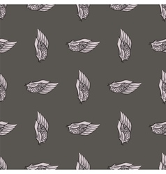 Feather wings seamless pattern vector