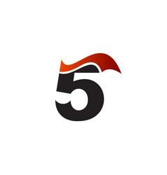 figure 5 logo design concept template vector image