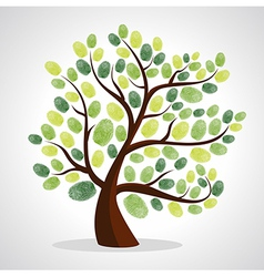 Finger prints tree vector image