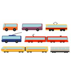 flat style public transport set vector image
