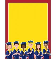 graduation border vector image
