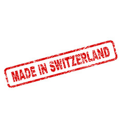 Grunge made in switzerland rounded rectangle stamp vector