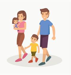 happy family go to zoo vector image