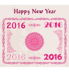 Happy new year 2016 decor Text Design vector image