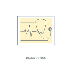 Healthcare diagnostic tool vector