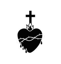 Holy sacred heart vector