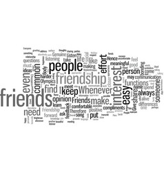 How to keep friends for life vector