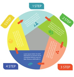 Info graphic business circle vector