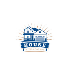 Isolated blue color architectural house icon for vector