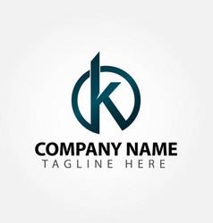 K company logo template design vector