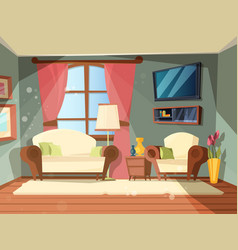luxury room premium interior living room with vector image