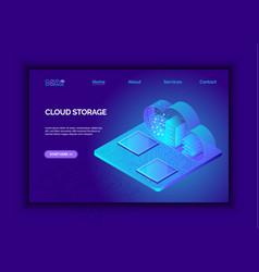 Modern 3d flat design isometric for cloud service vector